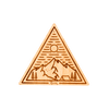 Base Camp Triangle Wood Sticker - Rustek