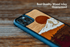 Timber Line Inlay iPhone SE Case - Rustek