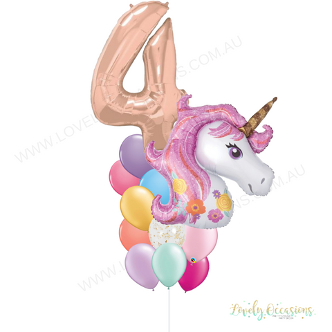 foil number pink unicorn
