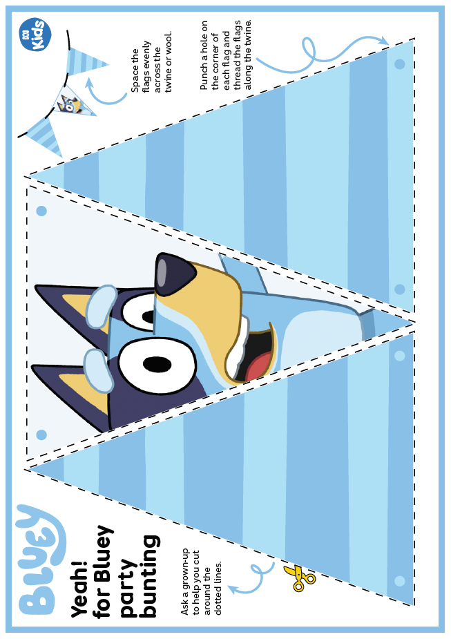 Bluey party bunting