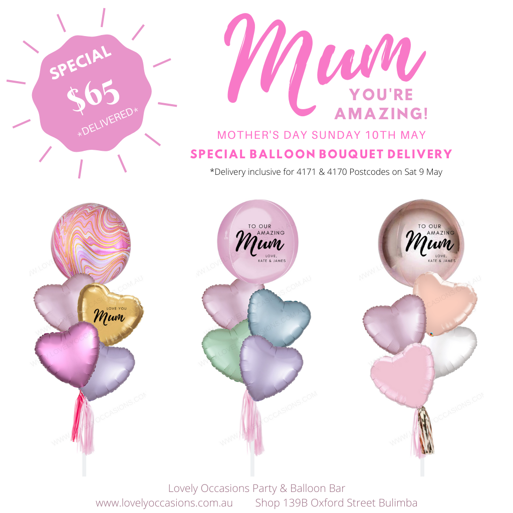 mothers day brisbane balloons delivered