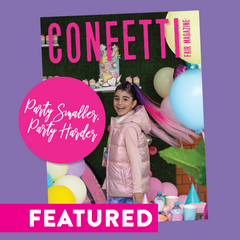 COnfetti fair party magazine August