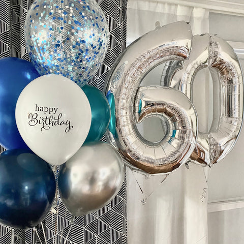 silver number fn bunch balloons brisbane