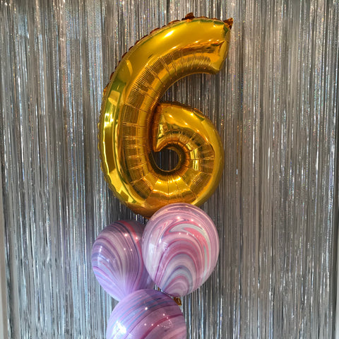 Midsize Foil Number Balloons