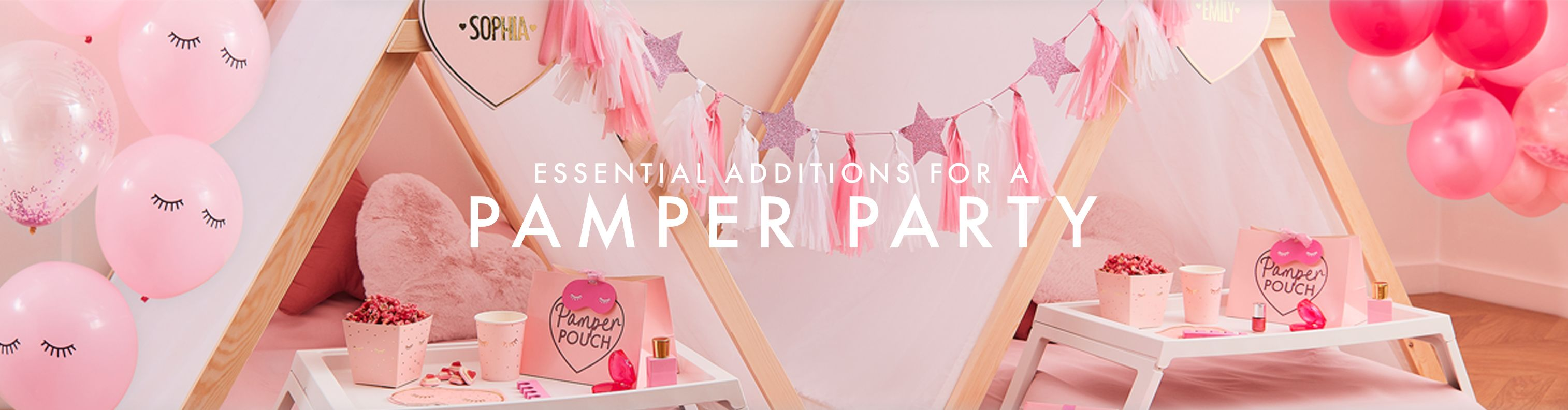 how to set up a pamper party at home