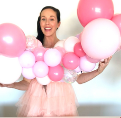 how to inflate a mini balloon garland kit
