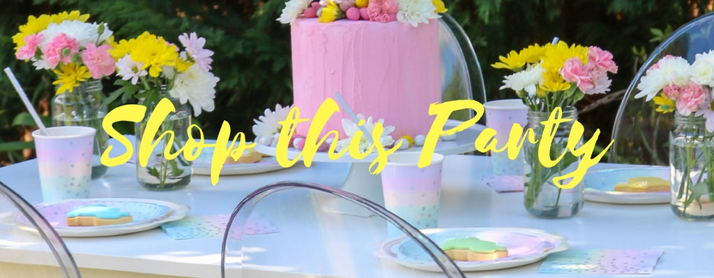 shop pastel iridescent partyware