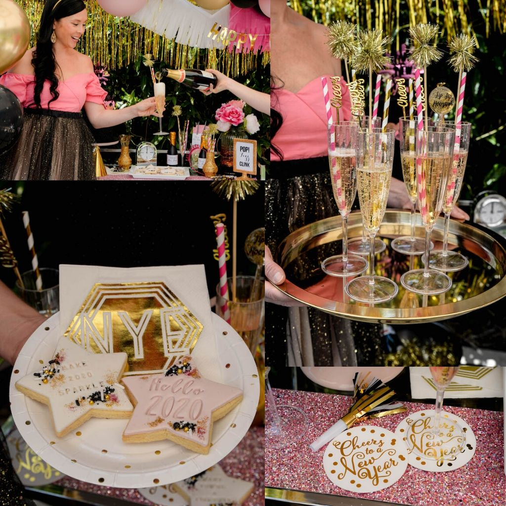 New years eve drinks tray