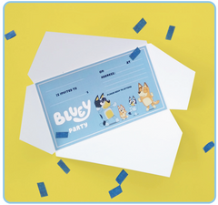 Free Bluey Party invite downloads
