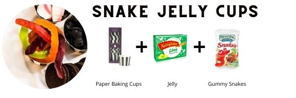 Jelly Snake Cups