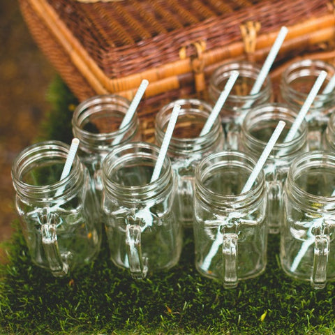 vintage mason jar glasses