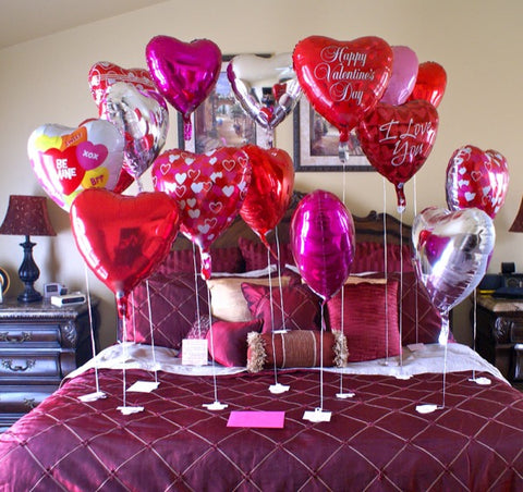 love balloon bed