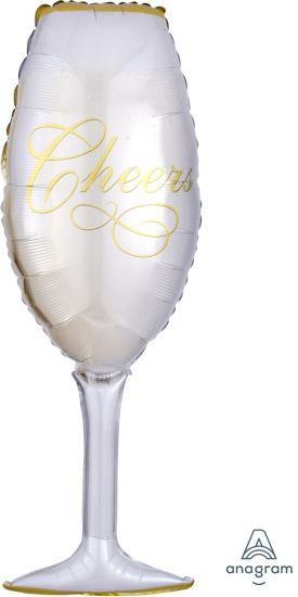 Champagne Glass Foil Balloon (97cm)