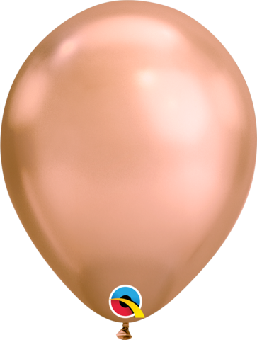 Chrome Rose Gold Balloon