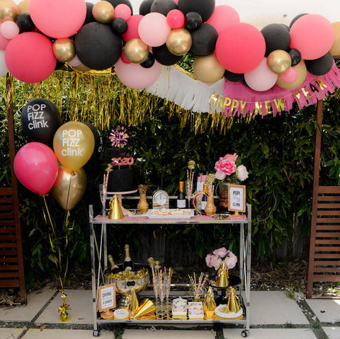 Pink, Black & Gold Standard DIY Balloon Garland Kit