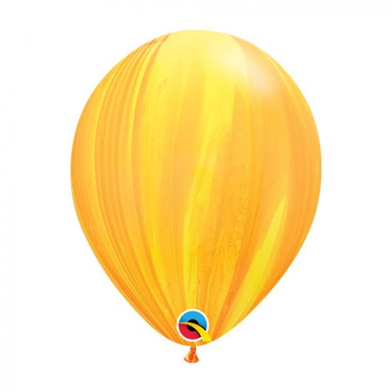 Yellow/Orange Marble Balloon