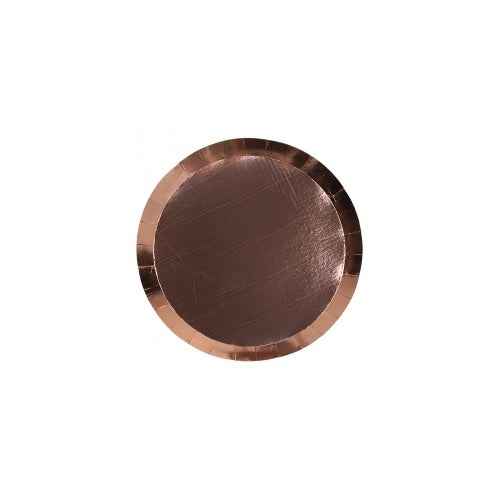 Metallic Rose Gold Dessert Plate (10pk)