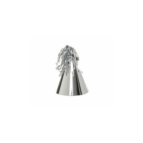 Metallic Silver Party Hat (10pk)