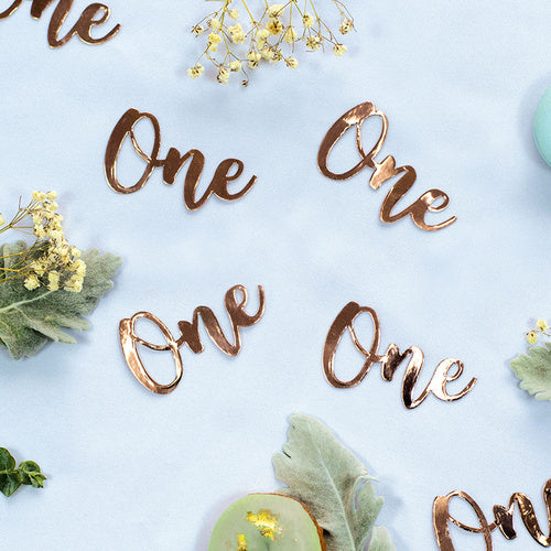One - Rose Gold Jumbo Confetti
