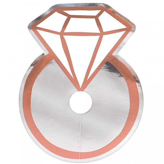 Rose Gold Ring Drink Tags (12 Pack)