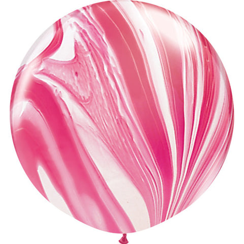 Jumbo Pink/Red Marble Balloon