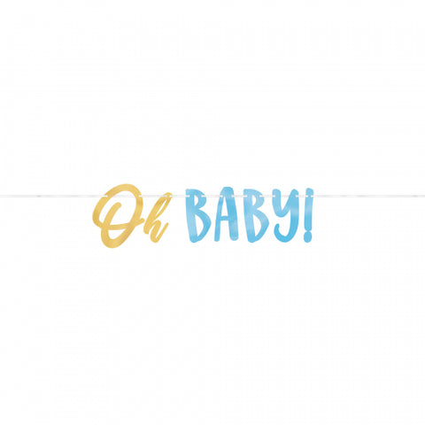 Oh Baby Banner - Blue