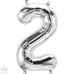 "Small 16"" Foil Numbers - Silver (40cm)"