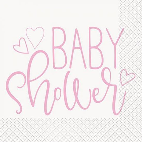 Baby Shower Napkin - Pink
