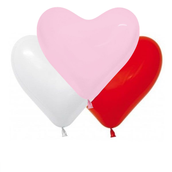 Heart Balloons (6 Pack)
