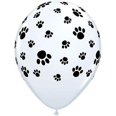 Paw Print Balloons (6 Pack)