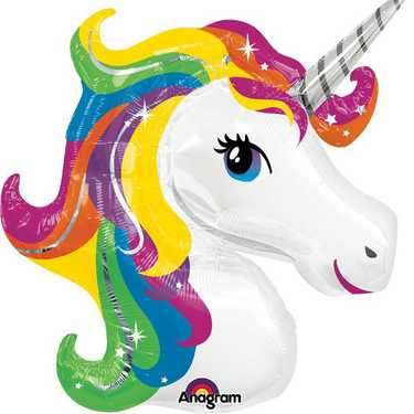 Jumbo Rainbow Unicorn Foil Balloon