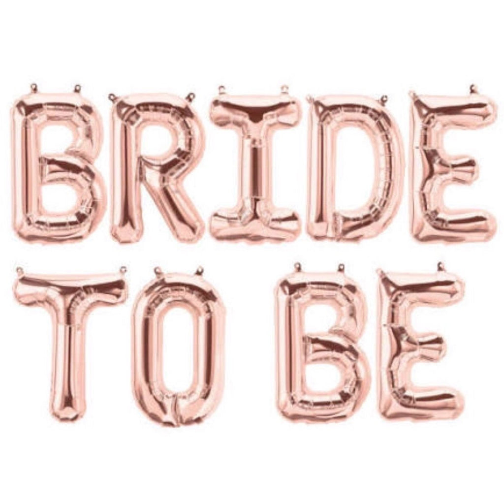 Bride To Be - Rose Gold Foil Balloons
