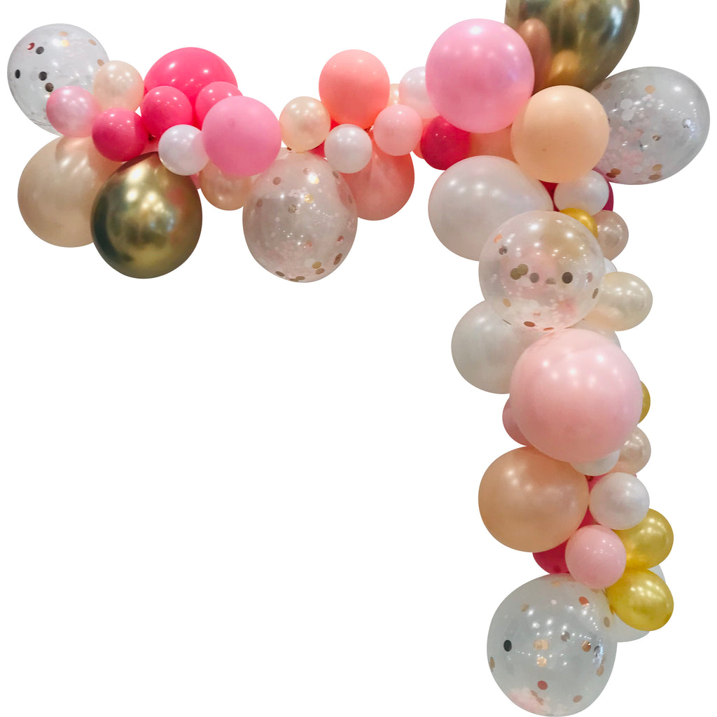 Pretty in Pink Medium Balloon Garland Kit 2m