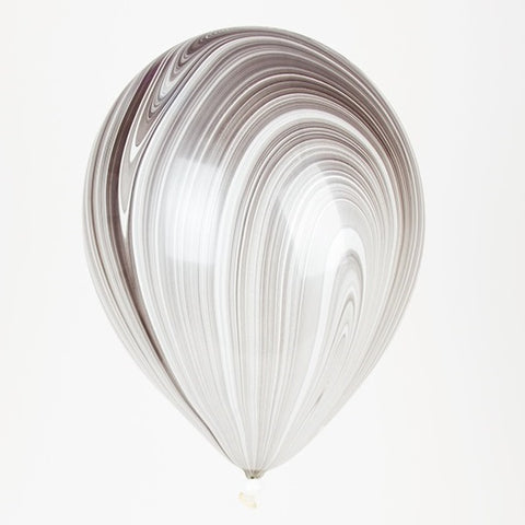 Marble Black & White Balloon