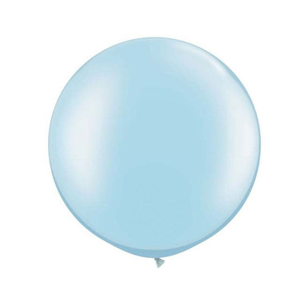 Jumbo Pastel Pearl Light Blue Balloon (76m)