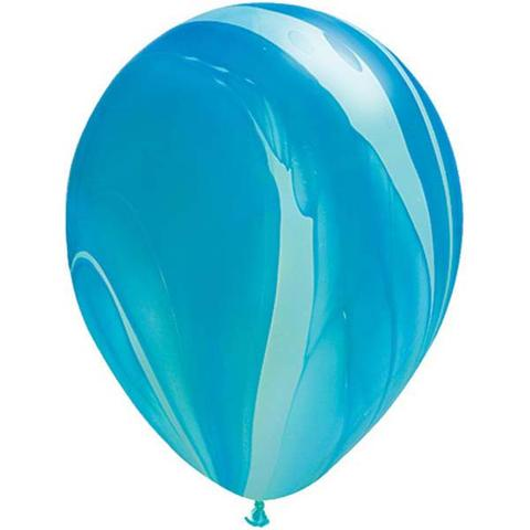 Marble Blue Balloon