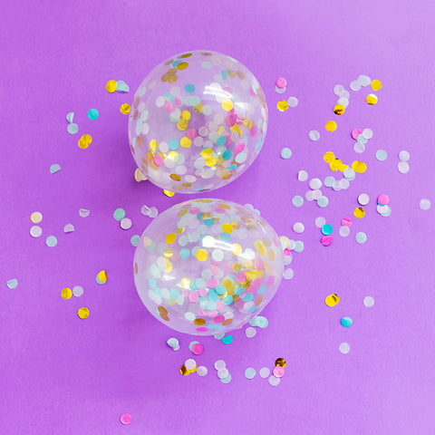 Mini Bright Confetti Balloons (5 Pack)