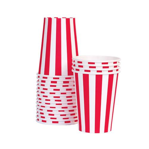 Candy Cane Red Paper Cups