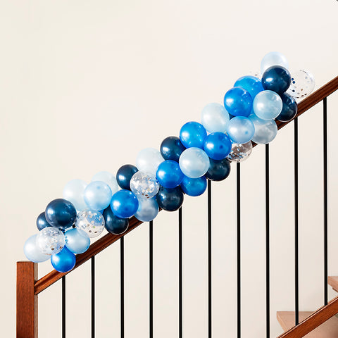 Blue Confetti Mini Balloon Garland Kit