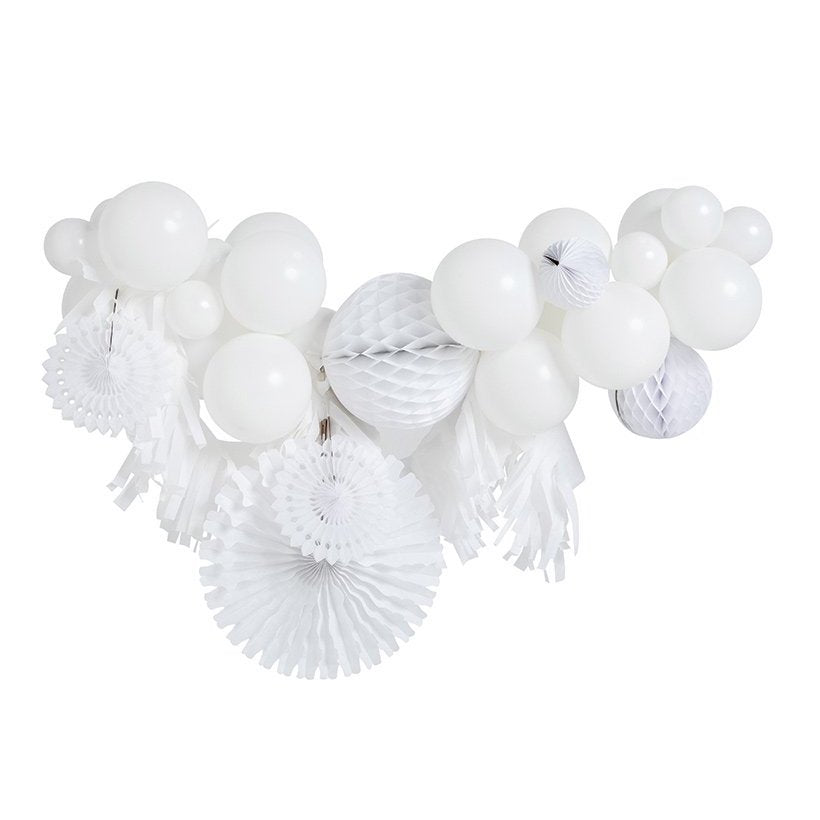 White Fancy Balloon Garland