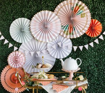 Garden Party Fan Set