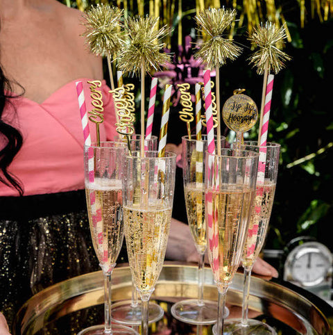Gold Cheers Drink Stirrers (12pk)