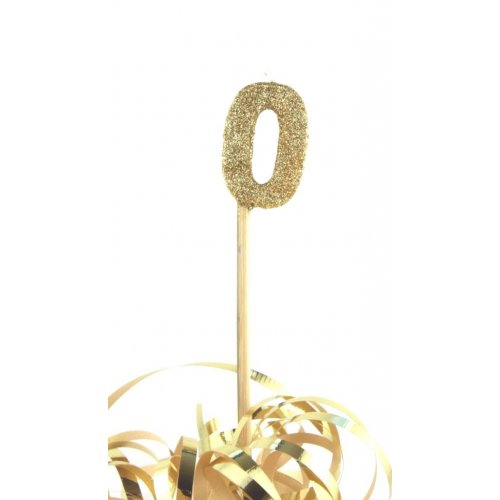 Gold Glitter No. 0 Candle