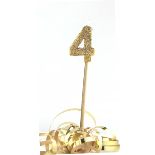 Gold Glitter No. 4 Candle