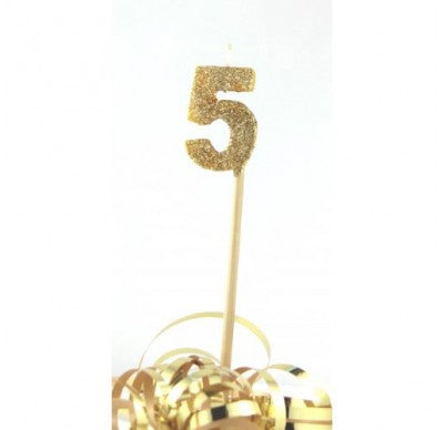 Gold Glitter No. 5 Candle