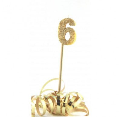 Gold Glitter No. 6 Candle
