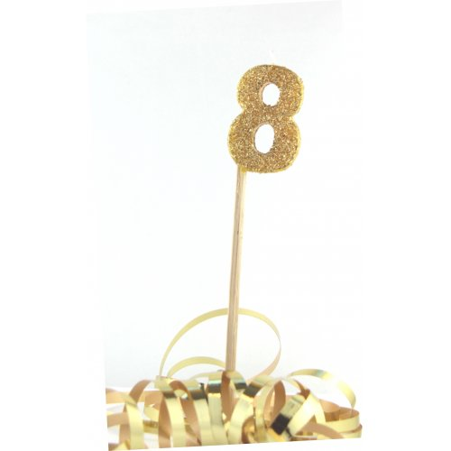 Gold Glitter No. 8 Candle