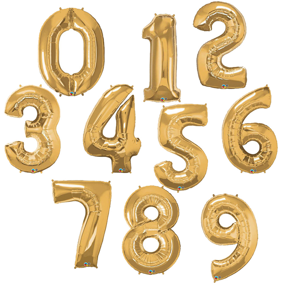 Jumbo Foil Numbers - Gold (86cm)