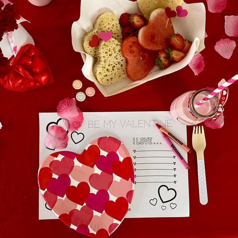 FREE Be My Valentine Printable Placemat