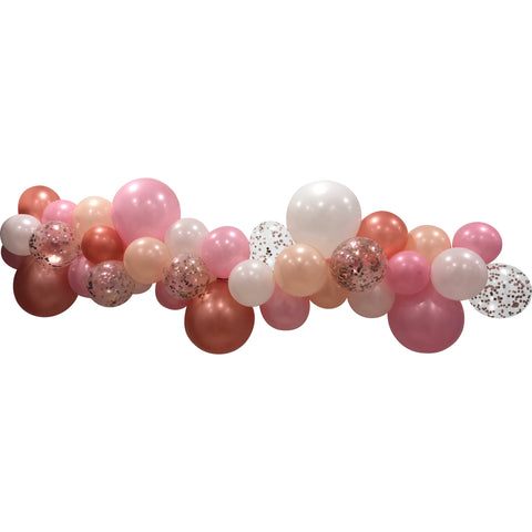 Pink & Rose Gold Confetti - Standard Balloon Garland Kit 2m